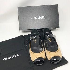 Chanel Light Beige Ballerina Flats Size 7